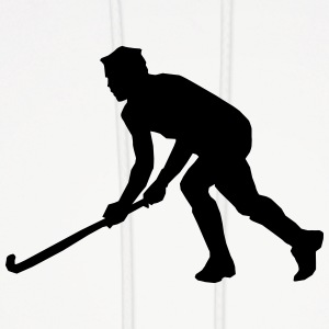 Playing Hockey Silhouette (Sport) Hoodies - Men's Hoodie