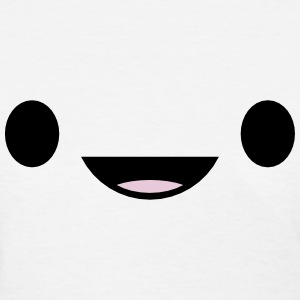 Smiling Japanese Anime Face T-Shirts - Women's T-Shirt