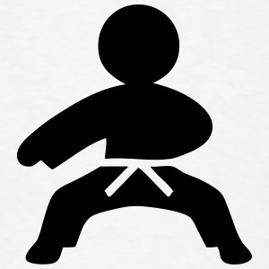 Karate (Stickman / Stickfigure) T-Shirts - Men's T-Shirt
