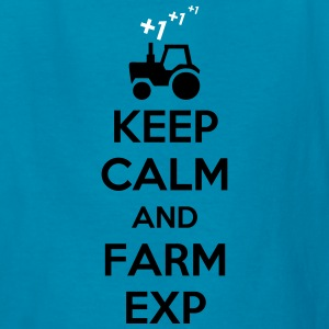 Keep Calm And Farm Exp (Farming Game Experience) Kids' Shirts - Kids' T-Shirt