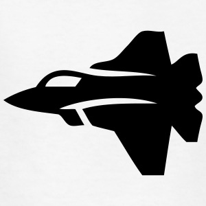 Jet Fighter Plane (Silhouette) Kids' Shirts - Kids' T-Shirt
