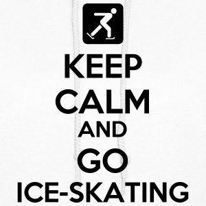 Keep Calm And Go Ice-Skating Hoodies - Women's Hoodie