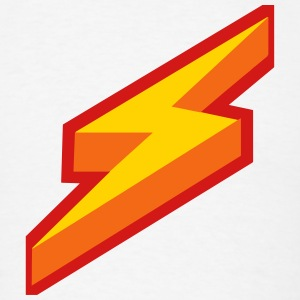 Lightning Bolt Design T-Shirts - Men's T-Shirt