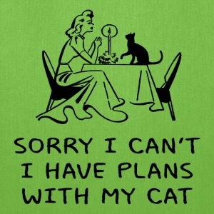 SORRY I CAN'T, I HAVE PLANS WITH MY CAT - Tote Bag