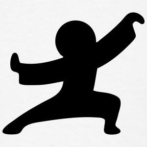 Kung-Fu Stickman / Stickfigure T-Shirts - Men's T-Shirt
