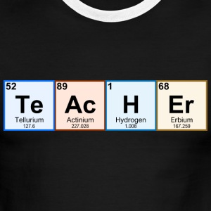 Periodic Table Chemistry Teacher - Men's Ringer T-Shirt