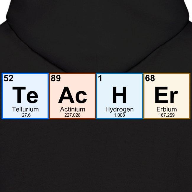Geek Day Periodic Table Chemistry Teacher Mens Hoodie