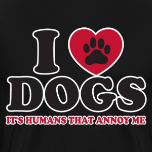 I Love Dogs - Men's Premium T-Shirt