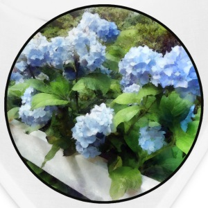 Blue Hydrangea on Fence Caps - Bandana