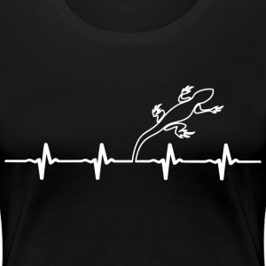 Lizard Owners Heartbeat - Women - Women's Premium T-Shirt