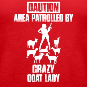 Caution Crazy Goat Lady ! - Women's Premium Tank Top