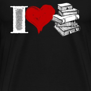I Love Books Shirt - Men's Premium T-Shirt
