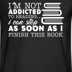 Not Addicted To Reading - Men's Long Sleeve T-Shirt