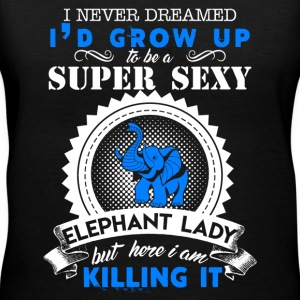 Super Sexy Elephant Lady - Women's V-Neck T-Shirt