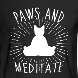 Paws And Meditate Shirt - Men's Long Sleeve T-Shirt