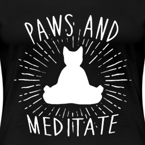 Paws And Meditate Shirt - Women's Premium T-Shirt