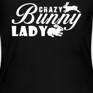 Crazy Bunny Lady - Women's Long Sleeve Jersey T-Shirt