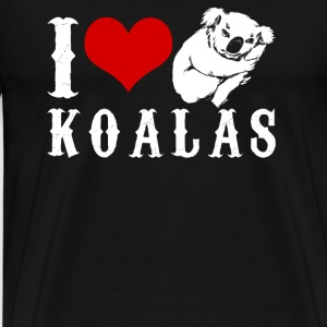 I Love Koalas Shirt - Men's Premium T-Shirt