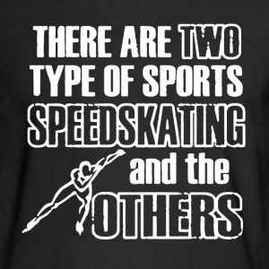 Speedskating Shirt - Men's Long Sleeve T-Shirt