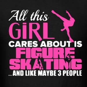Girl Figure Skating - Men's T-Shirt