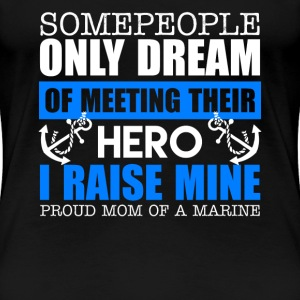 Proud US Marine Mom - Women's Premium T-Shirt
