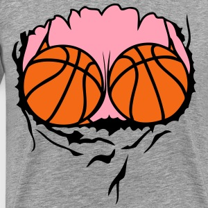 breasts swimsuit basketball ball T-Shirts - Men's Premium T-Shirt
