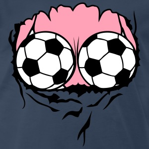 breasts swimsuit soccer ball T-Shirts - Men's Premium T-Shirt