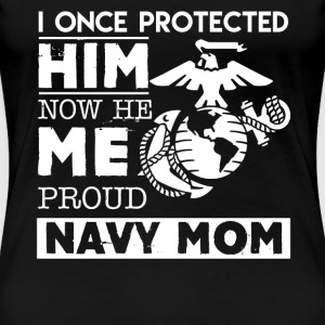 Proud Navy Mom Tshirt - Women's Premium T-Shirt