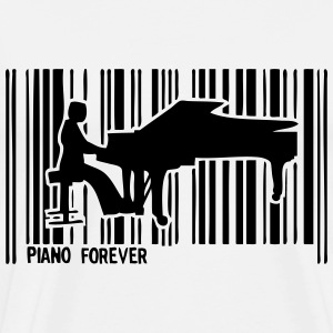 pianist piano bar code 1 T-Shirts - Men's Premium T-Shirt