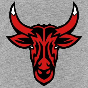 bull horn cartoon face logo 502 Kids' Shirts - Kids' Premium T-Shirt