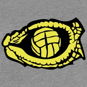 water polo volleyball eye reptile snake T-Shirts - Women's Premium T-Shirt