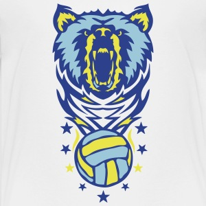 bear volleyball waterpolo club logo Kids' Shirts - Kids' Premium T-Shirt