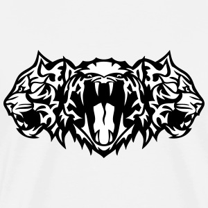 tiger head open mouth cartoon face T-Shirts - Men's Premium T-Shirt