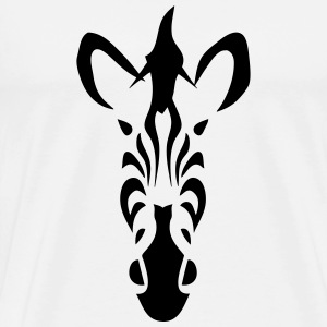 tribal zebra 502 T-Shirts - Men's Premium T-Shirt
