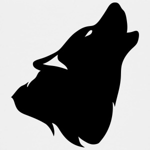 outline howling wolf shadow 0 Kids' Shirts - Kids' Premium T-Shirt