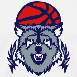 basketball club logo wolf cartoon T-Shirts - Men's Premium T-Shirt