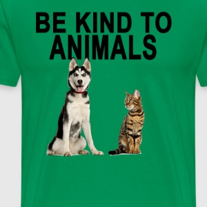 be_kind_to_animals_ - Men's Premium T-Shirt