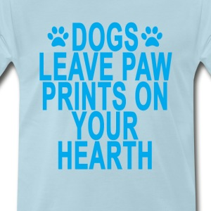 dogs_leave_paw_prints_on_your_hearth_ - Men's Premium T-Shirt