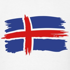 Iceland Flag Painting T-Shirts - Men's T-Shirt