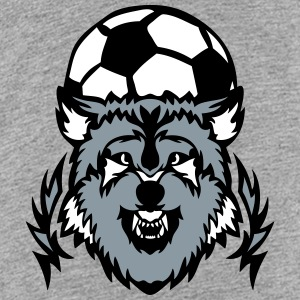 soccer club logo wolf cartoon balloon Kids' Shirts - Kids' Premium T-Shirt