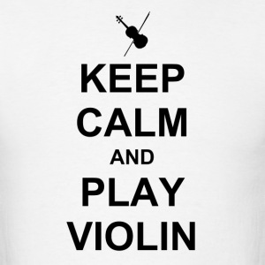 calm violin black - Men's T-Shirt