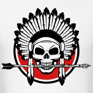 Indian Skull with Arrow - Men's T-Shirt