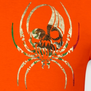 MEXICO SPIDER SKULL FLAG T-Shirts - Men's T-Shirt