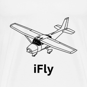 iFly Airplane - Men's Premium T-Shirt