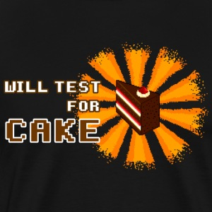 Will test for cake T-Shirts - Men's Premium T-Shirt