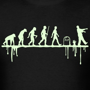 Evolution: Zombie (glowing in the dark) - Men's T-Shirt