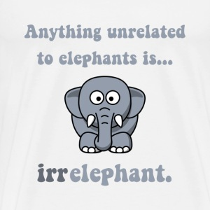 Irrelephant Elephant - Men's Premium T-Shirt