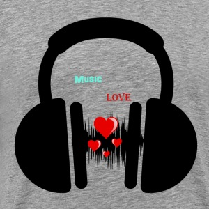 Music Love T-Shirts - Men's Premium T-Shirt