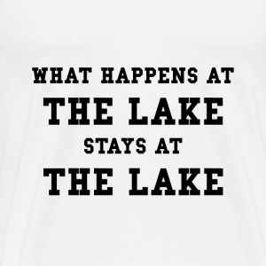 Happens At Lake - Men's Premium T-Shirt