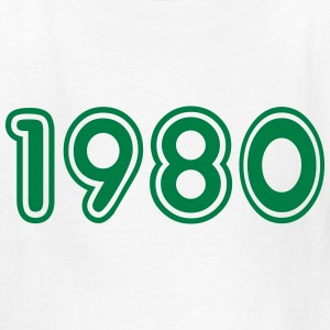 1980, Numbers, Year, Year Of Birth Kids' Shirts - Kids' T-Shirt